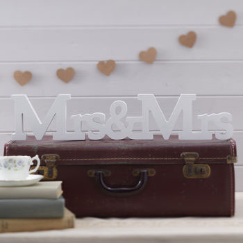 Rustic Mrs and Mrs Wooden Sign romantic rustic theme
