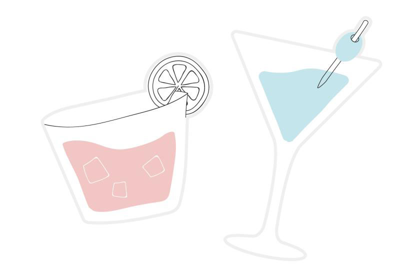 Drink and Cocktail Wedding props