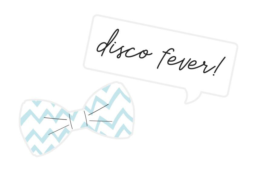 Bow tie and disco fever sign prop