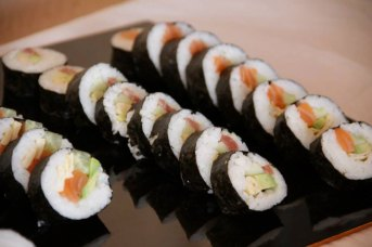 Sushi as a veggie alternative wedding treats