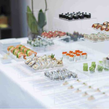 Sushi trays wedding reception