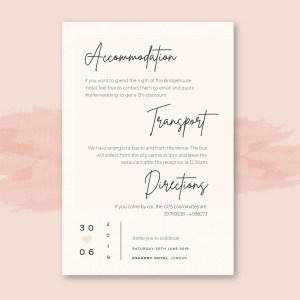 info card with modern simple minimal design