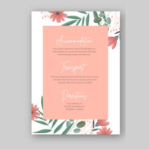 info card with pink watercolour background