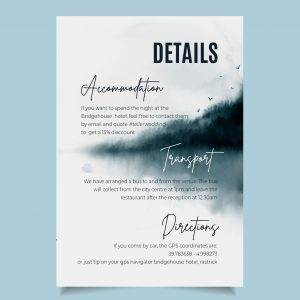 info card with navy watercolour sea background