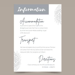 info card with minimal leave design