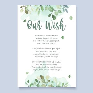 honeymoon wish poem with sage leaves