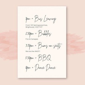 timeline card with plain white background x