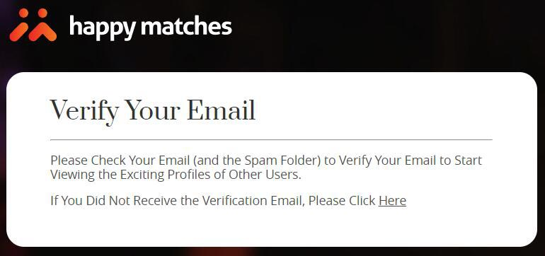 HappyMatches-Sign-Up-Email-Veirify