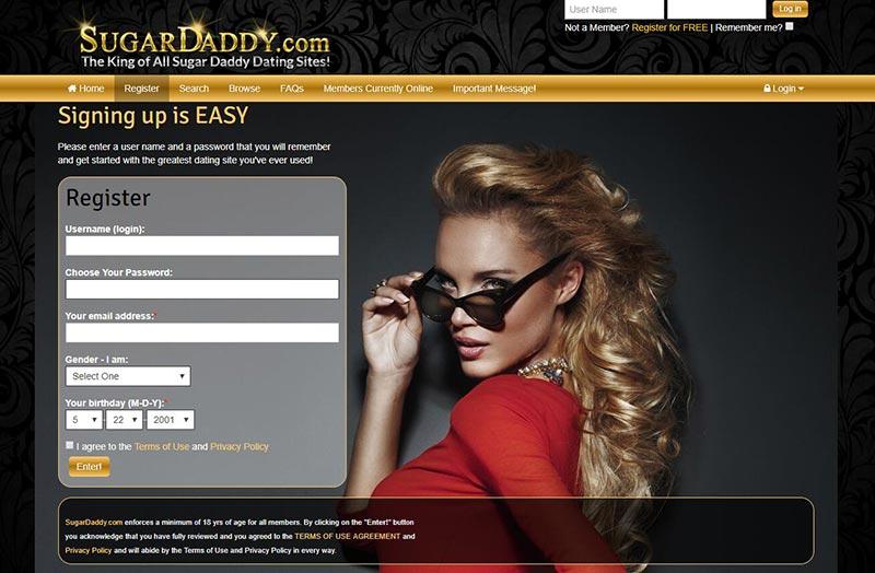 SugarDaddy.com Register