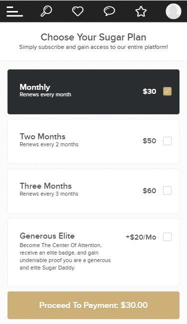 SugarBabies Costs