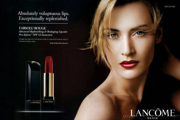 A beautiful woman with a red lipstick