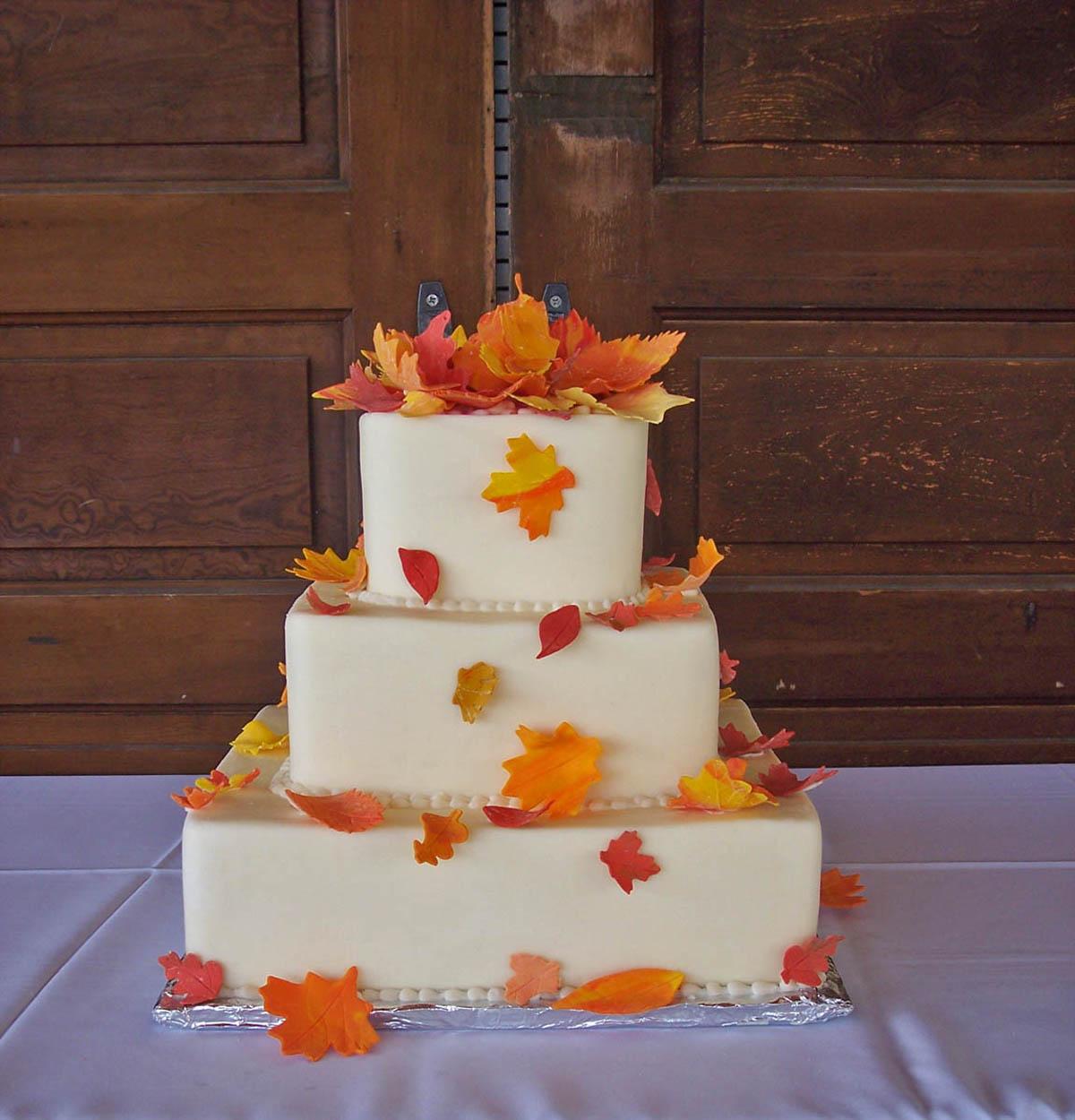 Weddings Autumn Leaf Cake Ideas And Designs
