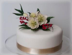 Christmas Rose Cake