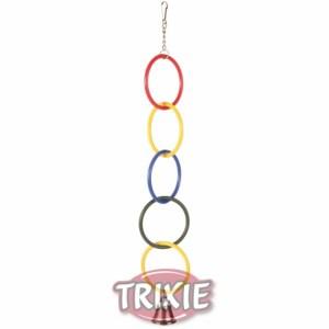 Anillos olímpicos con cadena y campana Accesorios Jaula para Petauro del Azucar Sugar Glider Cage Enriquecimiento Ambiental