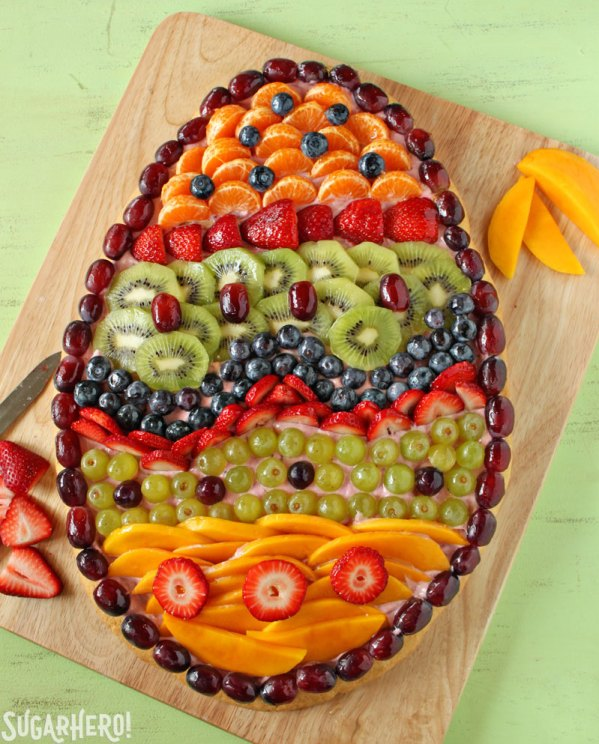Fruit Pizza | From SugarHero.com