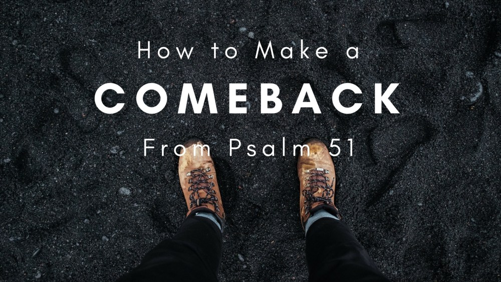 How to Make a Comeback Image