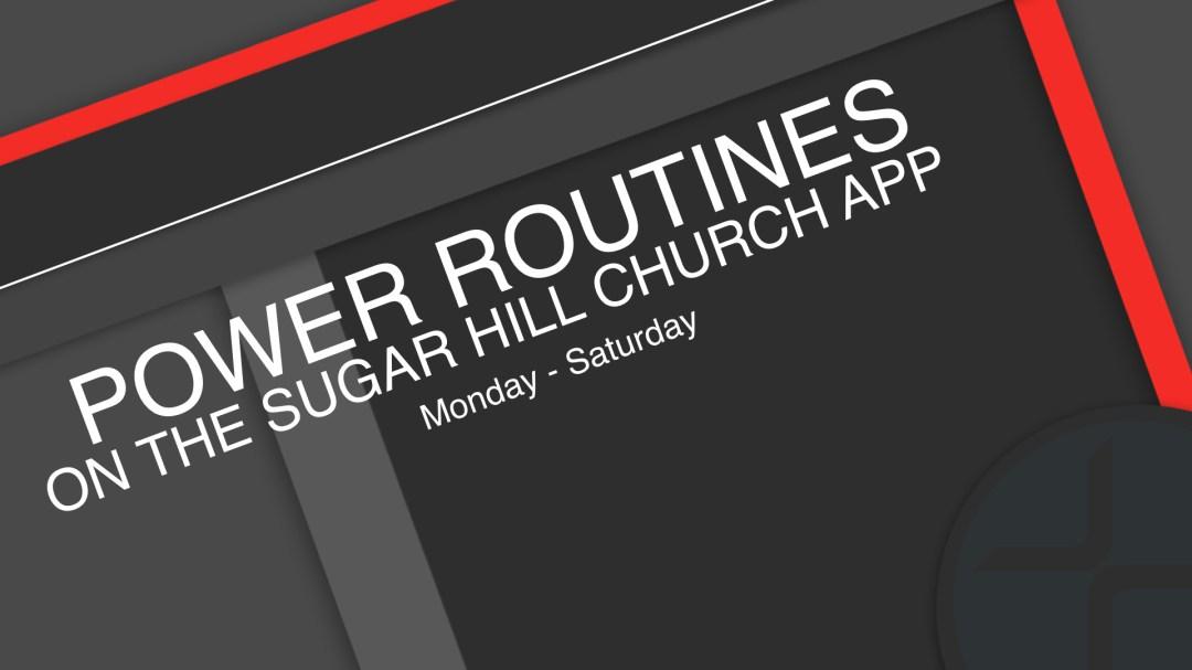 Power Routines - Week 2 Image