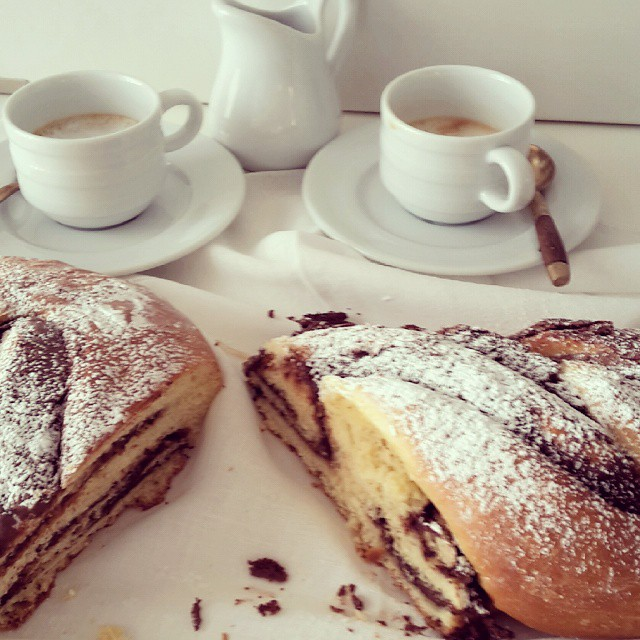This pan brioche is awesome #I love Nutella