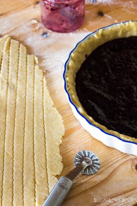 Crostata (Jam Tart)-making lattice top