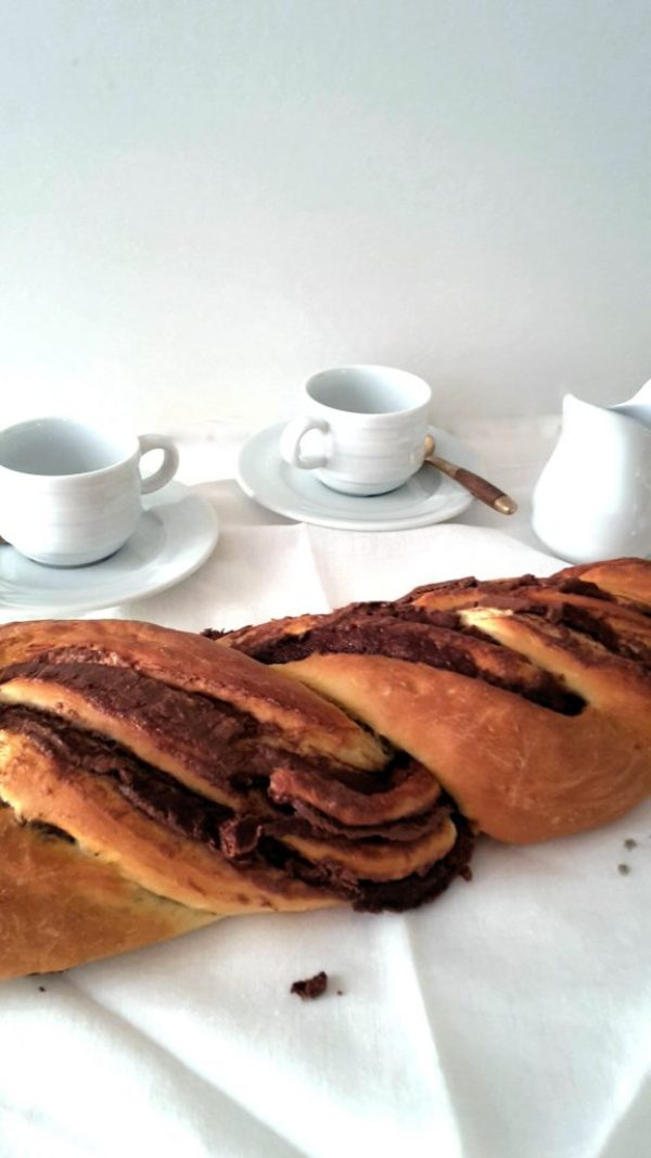 Nutella pain brioche braid