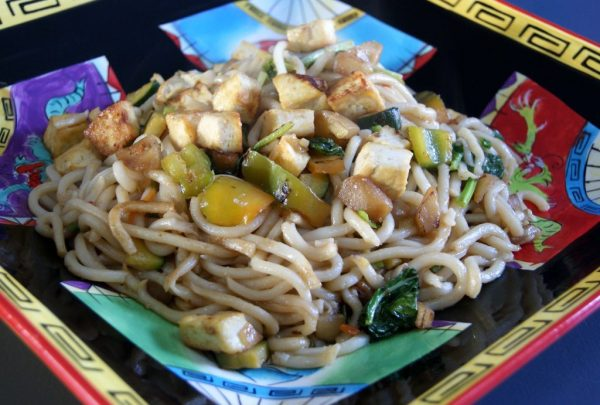 Crispy Tofu Noodles Stir-fry