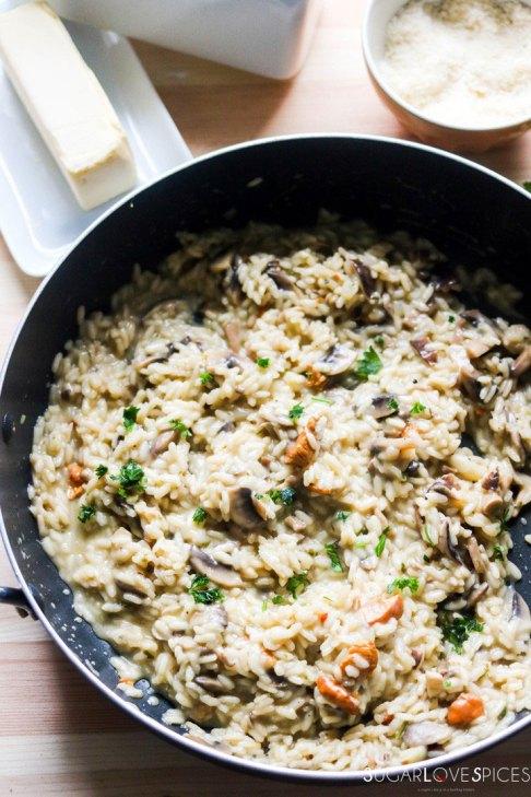 Mixed Mushroom Risotto-pan-ready
