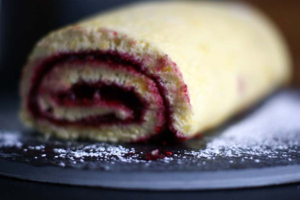 raspberry jam swiss roll