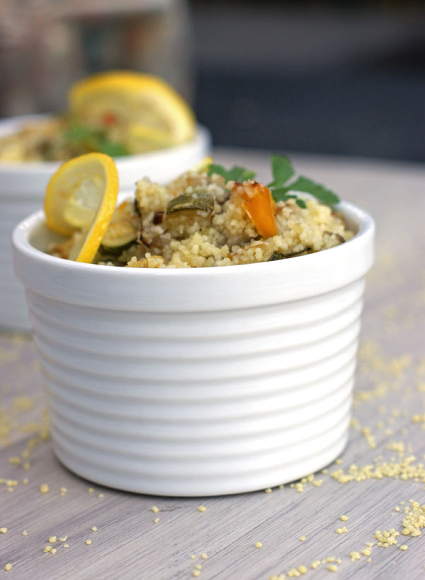 roasted vegetables cous cous