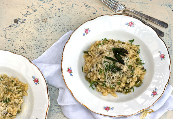 grilled asparagus risotto