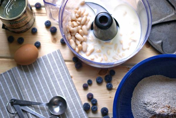 whole wheat white bean pancakes