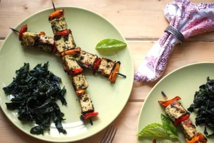 Tofu Pepper skewers