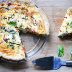 Pepper and Onion Quiche