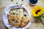 Blueberry Chocolate Cream Cheese Scones