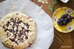 Rustic Crostata with Concord Grapes, Almonds and Rosemary