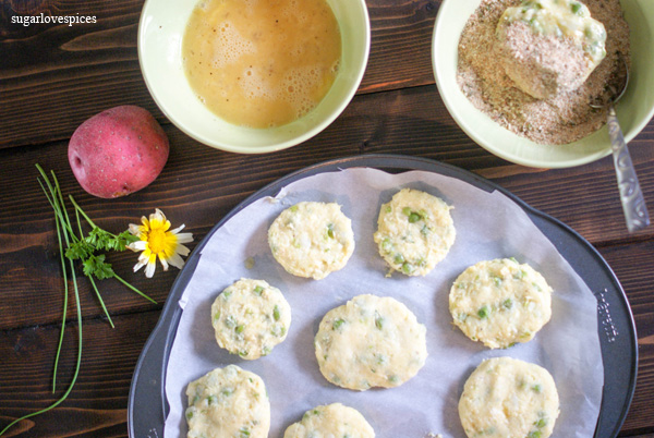 Pea and Potato Fritters