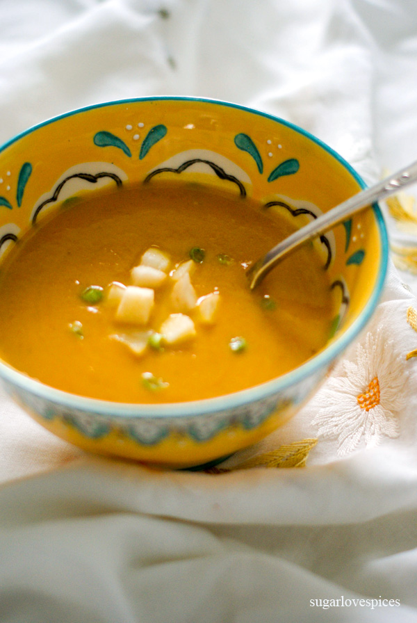 Miso Carrot Soup - easy, light, delicious soup with a lovely flavor
