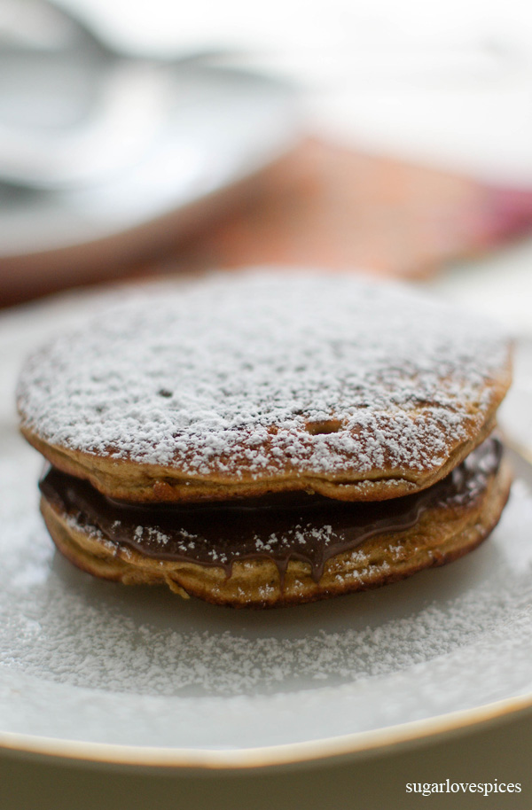 Dorayaki with Chocolate Hazelnut Spread