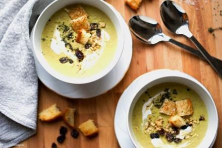 Velvety Cream of Pea Soup