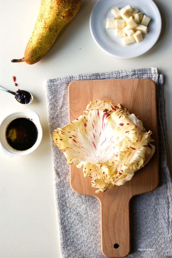 Radicchio, Pear and Taleggio Salad