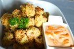Panko and Asiago Crusted Popcorn Cauliflower