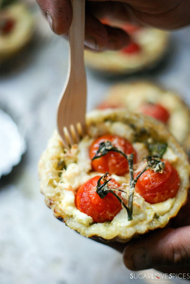 Tomato Goat Cheese Tartlets