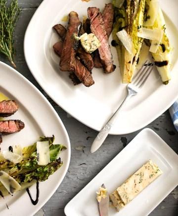 Charbroiled Piedmontese beef tagliata