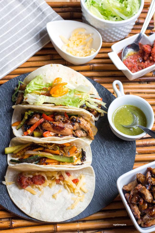Korean BBQ Chicken Tacos