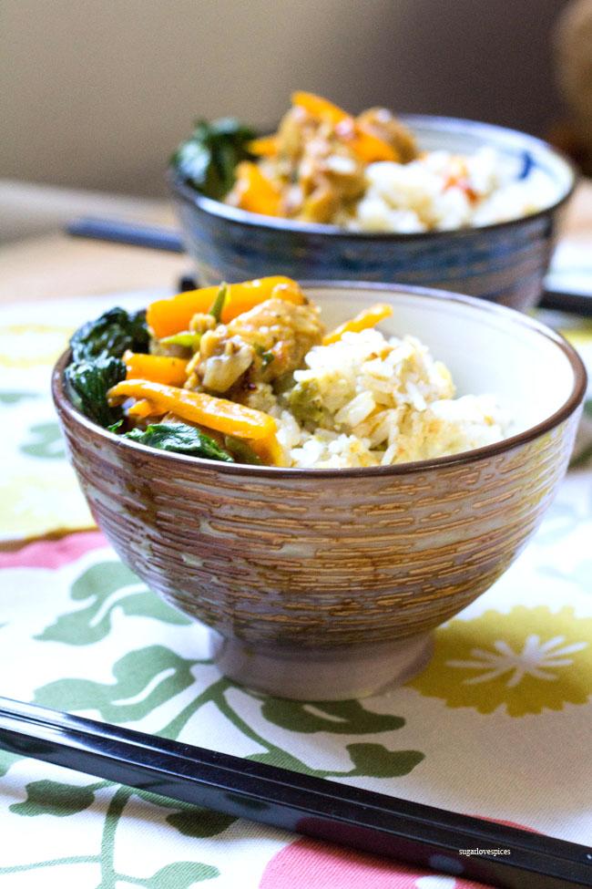 Curry Coconut Seitan Fried Rice