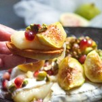 Baked Camembert with Figs and Pistachios-close