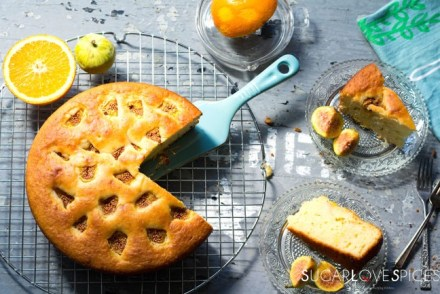 Fig Almond Olive oil Cake