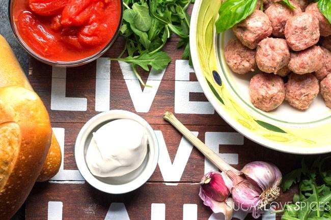 Italian Meatball Hero Sandwich