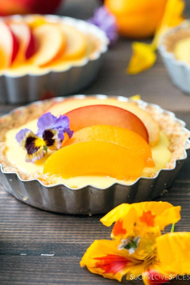 Stone fruit lemon mascarpone tart