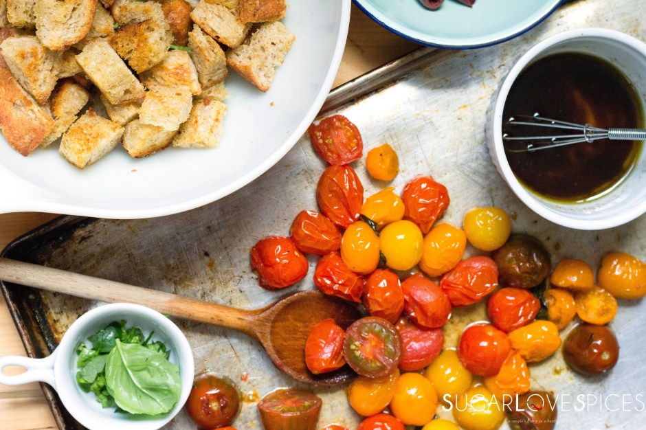 Roasted Tomato and Olive Panzanella