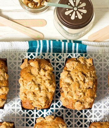 Maple Walnut Mini Banana Bread